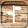 trail marker icon